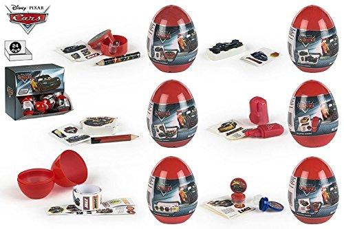 COLORBABY 76734, Pack 24 Eier überraschen Disney Cars. ideal für Partys und Geburtstage