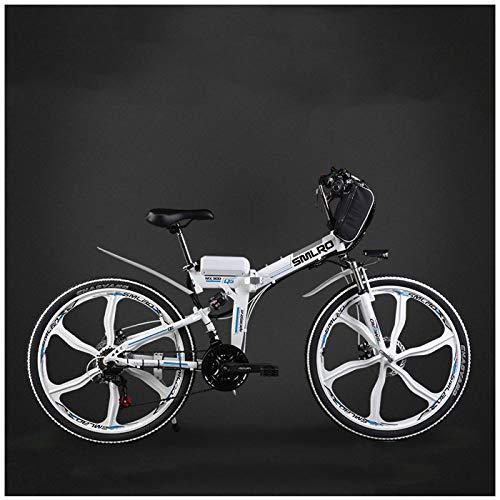 GTYW, Bici Elettrica, Pieghevole, City, Mountain Bike, Ciclomotore Adulto, 48v, Batteria Al Litio, 26 Pollici, 24 Pollici, Auto Batteria,D-26'