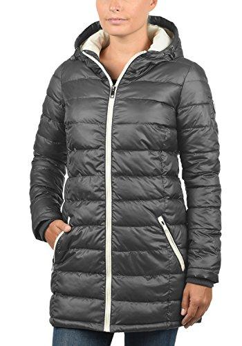 DESIRES Dori Damen Winterjacke Steppmantel mit Kapuze aus hochwertigem Material Dark Grey (2890)