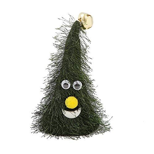 Yaoaoden 6 Zoll elektrische kleine Rocker Hut Weihnachtsbaum schütteln Hut Musik Play Star Lights Celsius Ornament mit Lichter grünen Baum (mit Glocke)