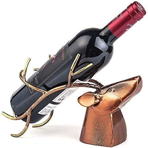Finitura in acciaio inossidabile vino Rack supporto a pavimento contiene?continentale creativo di ferro moda rétro rack vino,Corna rack di vino
