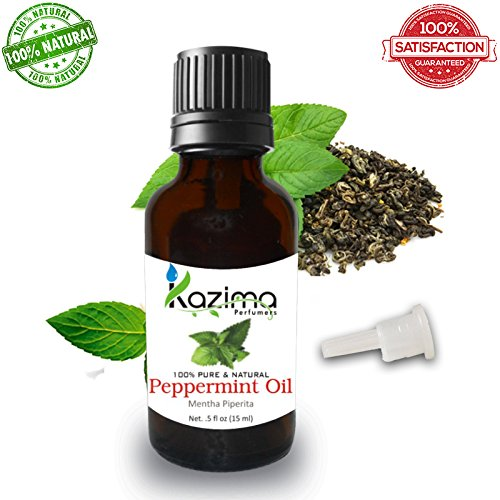 KAZIMA Peppermint Essential Oil 100% Pure Natural & Undiluted For Skin care & Hair treatment (15 ML)