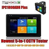 ipc1800Plus 4Pulgadas coaxial HD 4.0CCTV probador Monitor H.2654K IP 8MP TVI 4MP CVI 5MP AHD 5-en-1Cámara CCTV probador Apoyo WiFi ONVIF PoE DC48V