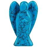 Shanxing Kristall Engel Figur Mini Schutzengel Edelstein Ornamente Dekoration Statuen Glücksbringer 1.5 Zoll,Blau Türkis