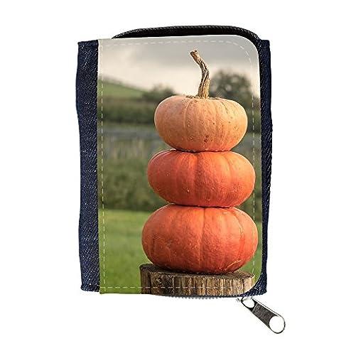 Portemonnaie Geldbörse Brieftasche // M00241485 Kürbisse Herbst-Orangen-gelber Kürbis // Purse Wallet