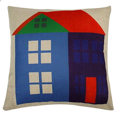 Secret Life (TM) Weihnachten Winter Baumwolle Stoff Dekokissen Kissen Fall 45,7x 45,7cm perfekten Urlaub und Geschenk, Textil, Home, 18 x 18