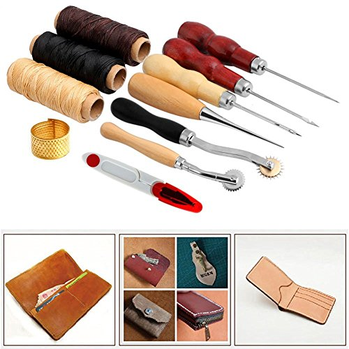 paracity-sewing-supplies-accessories-tools-leather-craft-hand-stitching-sewing-tool-14-pcs-set