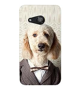 EPICCASE Dog in suit Mobile Back Case Cover For Microsoft Lumia 550 (Designer Case)