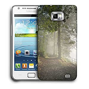 Snoogg White Forest Printed Protective Phone Back Case Cover For Samsung Galaxy S2 / S II