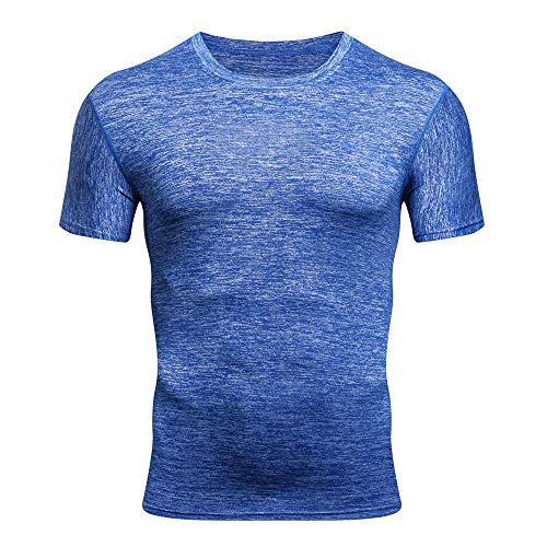 Mymyguoe Männer Fitness Kurz Tops Einfarbig Pullover Poloshirts Running-Shirts für Herren Slim Fit Kurze Ärmel Hemden Fun-T-Shirt Freizeitshirt Sportswear Hemden Sweatshirt Outdoor Lässiges T-Stück