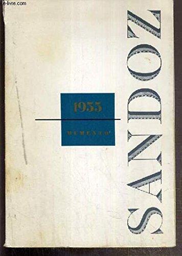 MEMENTO 1955 - NOUVEAUX PRODUITS - ACYLANIDE - BELLADENAL-DEXAMPHETAMINE - CALCUIM-SANDOZ + VITAMINE C -