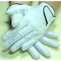 1 Paar Golfhandschuhe LADY rechts und links Leder in weiss Damen-Gr. L