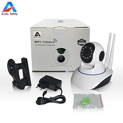 Auto Safety 720P 1.0 Megapixel P2P IP WiFi Videokamera IR Nachtüberwachung 1.0Mp und Motion Detection HD Auflösung (1280 * 720P) Home Security Kamera Baby Monitor - EU Stecker [Dual Antenne]