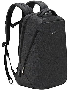 Slotra Business Laptop Rucksack 14.1-17 Zoll Outdoor Praktisch Schulerucksack Schwarz