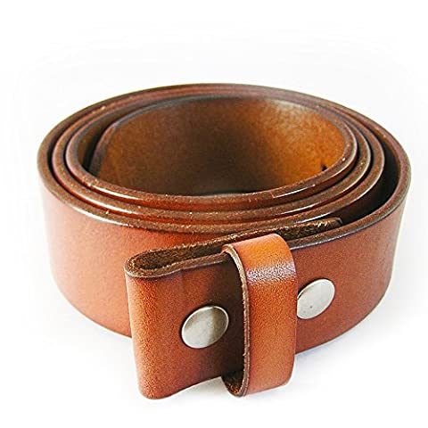 eeddoo® Echtledergürtel - hellbraun Medium - (M) 105cm (Wechselgürtel Buckle