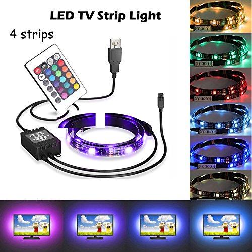 1819 USB Camping Lichtleiste/USB LED Streifen Licht für TV, Monitor, Home Theater, Schrank, Nachtlicht Styling Dekoration, USB LED Strip Light (Ir-quick-strip)