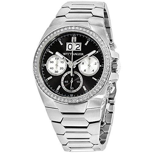 Wittnauer WN3049 Men's Brody Gunmetal Dial Steel Bracelet Chronograph Watch