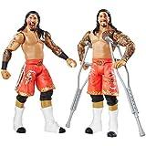 WWE Paquete de Dos Figuras Series No.32 - Jimmy Uso vs. Jey Uso con 2 muletas