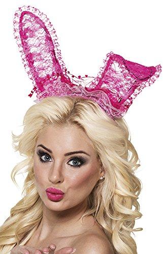 Karnevalsbud - Hasen Ohren Hut Haarreif Bunny, (Fisch Kostüme Hut Katze Im)