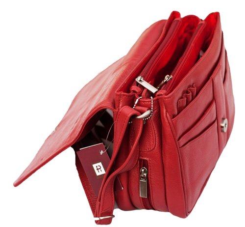 Prime Hide 871 Red, Borsa a tracolla donna rosso 27x18x11cm rosso