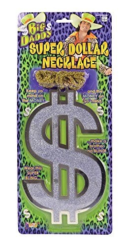 Kostüm 1970's Schmuck - GCC Fashion Store 1970's Big Daddy Super Dollar Necklace Adults Fancy Dress Accessory