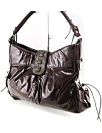 Morgan [F3587] - Sac 'Morgan Guest' Marron Chocolat Vernis