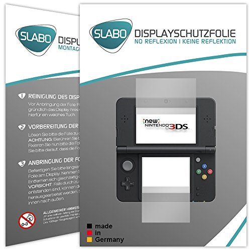 "2 x Slabo Displayschutzfolie New Nintendo 3DS Displayschutz Schutzfolie Folie ""No Reflexion