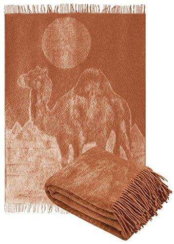 Kamelhaardecke 140 x 200cm Kamel Plaid Blanket Sofadecke Decke Kamelwolldecke