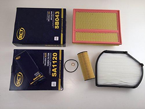 Preisvergleich Produktbild ÖLFILTER POLLENFILTER LUFTFILTER SCT GERMANY C-KLASSE W202 S202 C180 C200 u.a.