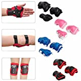 #8: Protective Gear Guard Adjustable for Kids age 6-10 years Children Skateboard Bicycle Ice Skate Roller Skating Cycling Outdoor Sports (Set of 6 pcs.) BLUE