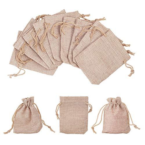 nbeads 250 Stücke Kleine Baumwolle Kordelzug Taschen Jutesäckchen Schmuckbeutel 9 x 8 cm für Hochzeit Geburtstag