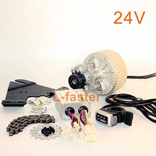 24V36V450Kit 24V36V450W bici elettrica Lato sinistro Motor Drive Kit Montagna di conversione della bicicletta corredo su misura del motore elettrico per la bici sospeso Wuxing thumb throttle (24V450W)