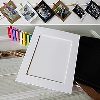 Kicode Wandhängendes Album mit Seilclip Vintage Papier Bilderrahmen 10 Set für Inneneinrichtungen