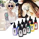 3 sets de 14 colores 1oz Kuo - Sumi mejor calidad Kuro Sumi 1oz 14 colores 15ML Tintas de pigmento del tatuaje 3 sets / lot