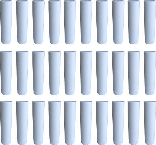 30 Lippenstift-Hülsen weiß, leer, zum Selbstbefüllen - MADE IN GERMANY