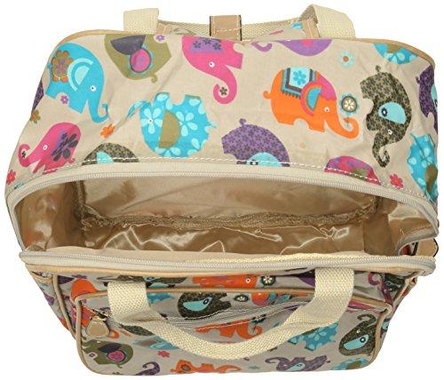 Swanky Swans Damen Noni Elephant Rucksackhandtasche, 11x39x30 cm Beige