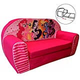 Kindersofa Sofa Couch Kinder Stuhl Kinderzimmer Softsofa Sessel Ausklappsofa (Sofa, My Little Pony)