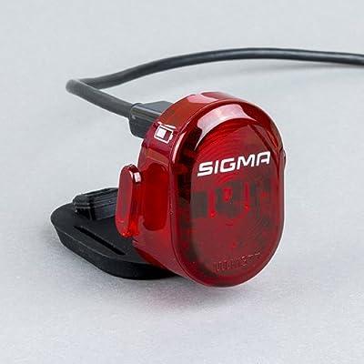 Sigma Sport LED Akku Fahrradbeleuchtung Nugget II, 400 m Sichtbarkeit, wiederaufladbares Rücklicht, StVZO Zugelassen, Schwarz