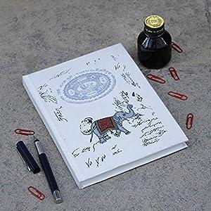 Hardbound Tagebuch Journal Unlined Writing Zusammensetzung Notebook für Reisen ein Tagebuch Personal Schedule Organizer Planner (Ethnic Elephant Collection) Valentine Geschenk
