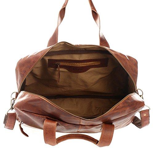 49b76bb360162e LECONI Weekender Handgepäck kleine Reisetasche Damen Herren Sporttasche  Fitnesstasche Ledertasche vintage echtes Leder Natur 48x35x15cm LE2018 braun  wax