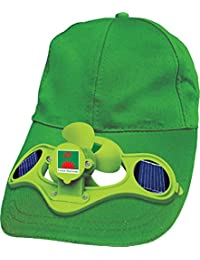 Green Horizons Cotton Blend Solar Cap with Fan (Green)