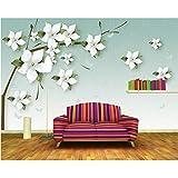 Kyzaa Frisch Geprägte Jasmin 3D Stereo Tapete Wandbild, Wohnzimmer Schlafzimmer Sofa Tv Wand Küche Tapeten Wohnkultur