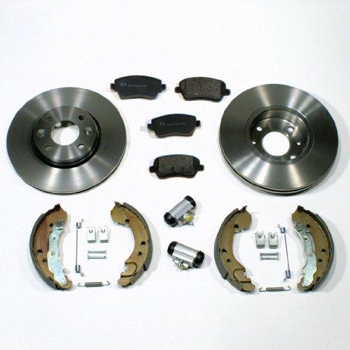 Bremsscheiben/Bremsen Set + Bremsbacken + Zubehör für vorne + hinten