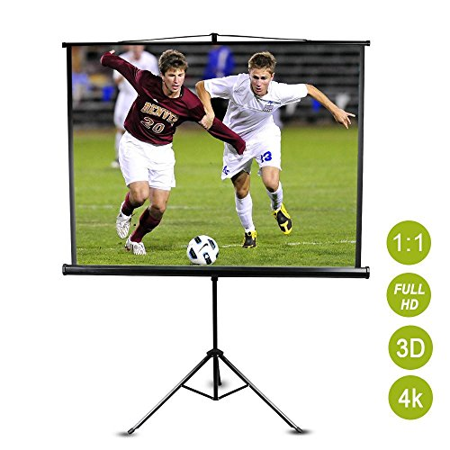 Yaheetech Beamer Leinwand Rolloleinwand Format 1:1 4:3 16:10 16:9 |152 x 152 cm Projektor Heimkino HD Portabel LCD LED