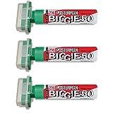 Zig Kuretake Posterman verde Biggie 50(50mm) punta punta Rotuladores de tiza líquida impermeable Pizarra Negra Pizarra blanca Exterior Vidrio Metal Plástico Madera Papel Illumi Board (Pack de 3)