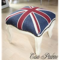 Comparador de precios Casa-Padrino barroco estrado Unión Jack/Crema - heces bandera Inglés antiguo estilo de Inglaterra - precios baratos