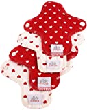 Moon Pads Hearts Lot de 4 mini protège-slips lavable en coton bio