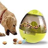 Branger Juguetes Interactivos, Juguetes para Mascotas con La Función Tumbler Aumenta el Coeficiente de Inteligencia y La Estimulación Mental para Perros y Gatos (Verde)