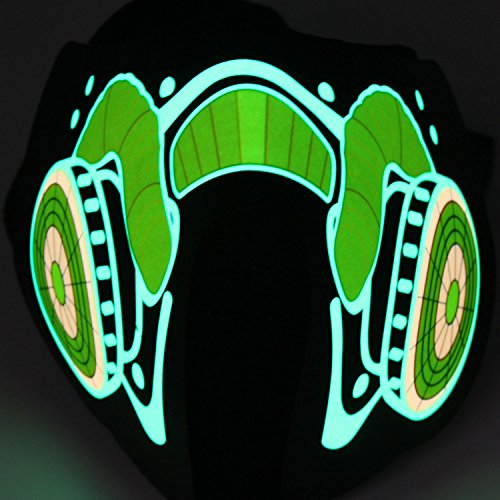 Xcellent Global EL. Panel Beleuchtete Maske Party Licht Dekoration für Kostüm, Festival, Halloween, Weihnachten Ton aktiviert (Kostüm Musik Party Halloween)