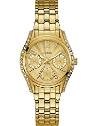 GUESS Analog Gold Dial Women's Watch - W1020L2